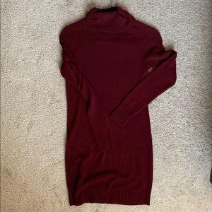 Women's Maroon Sweater Dress